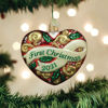 2021 First Christmas Heart Ornament by Old World Christmas