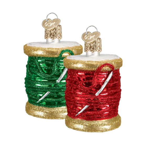 Spool Of Thread Ornament (Assorted) by Old World Christmas