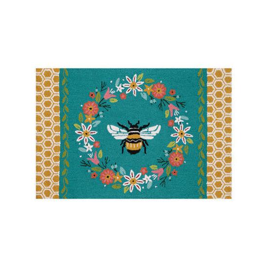 Bee Hive Hook Rug by Peking Handicraft