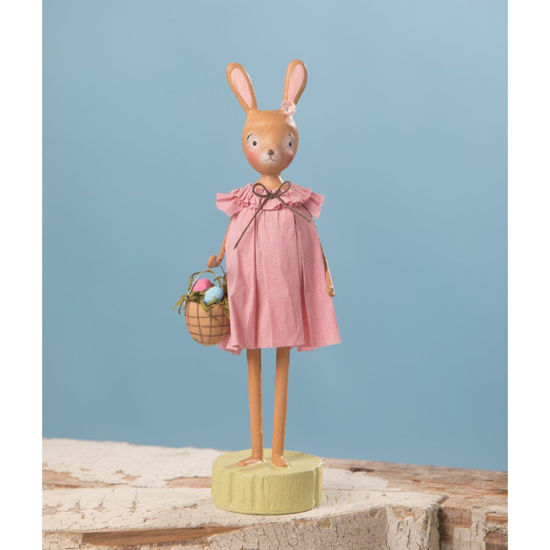 Rosey Bunny with Basket by Bethany Lowe