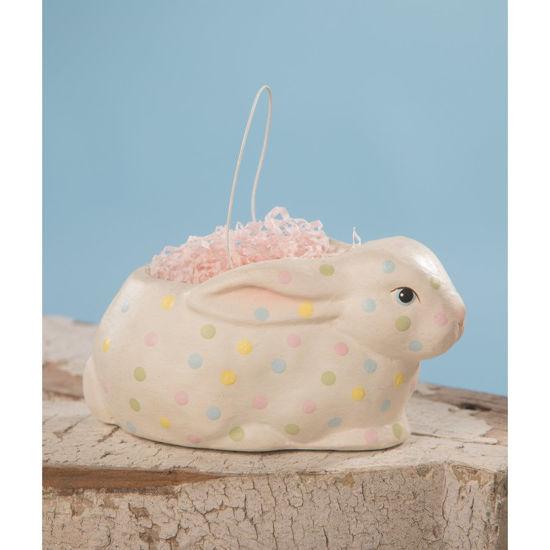 Polka Dot Bunny Bucket by Bethany Lowe