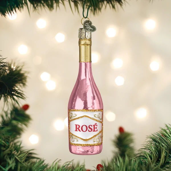 Rose Wine Ornament by Old World Christmas