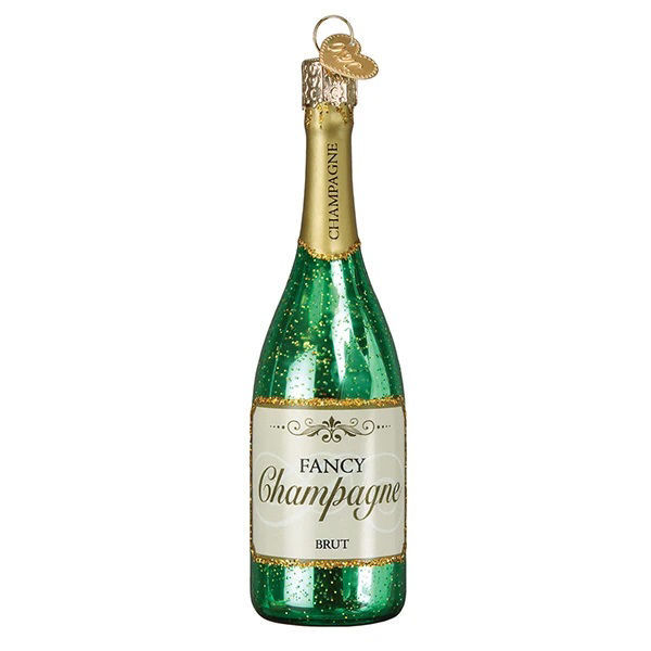 Champagne Bottle Ornament by Old World Christmas