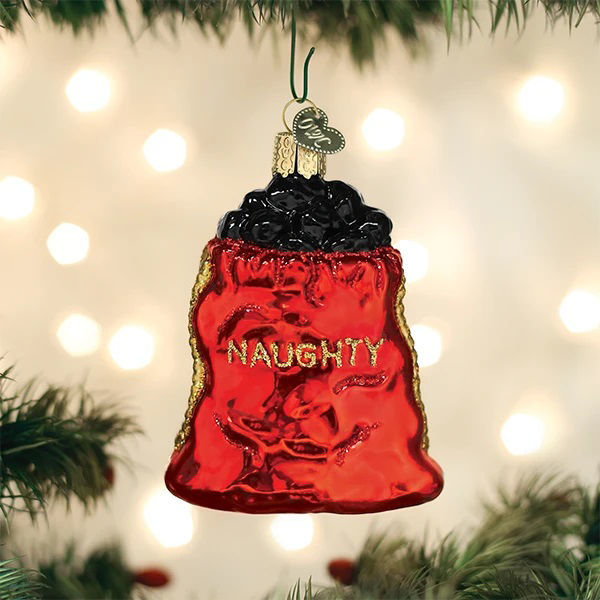 Bag of Coal Ornament by Old World Christmas