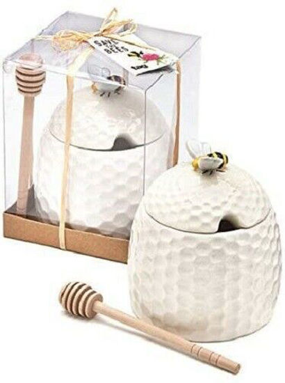 Bee Honey Pot and  Dipper Set by Tag