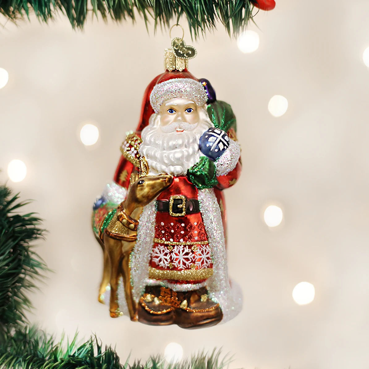 Nordic Santa Ornament by Old World Christmas