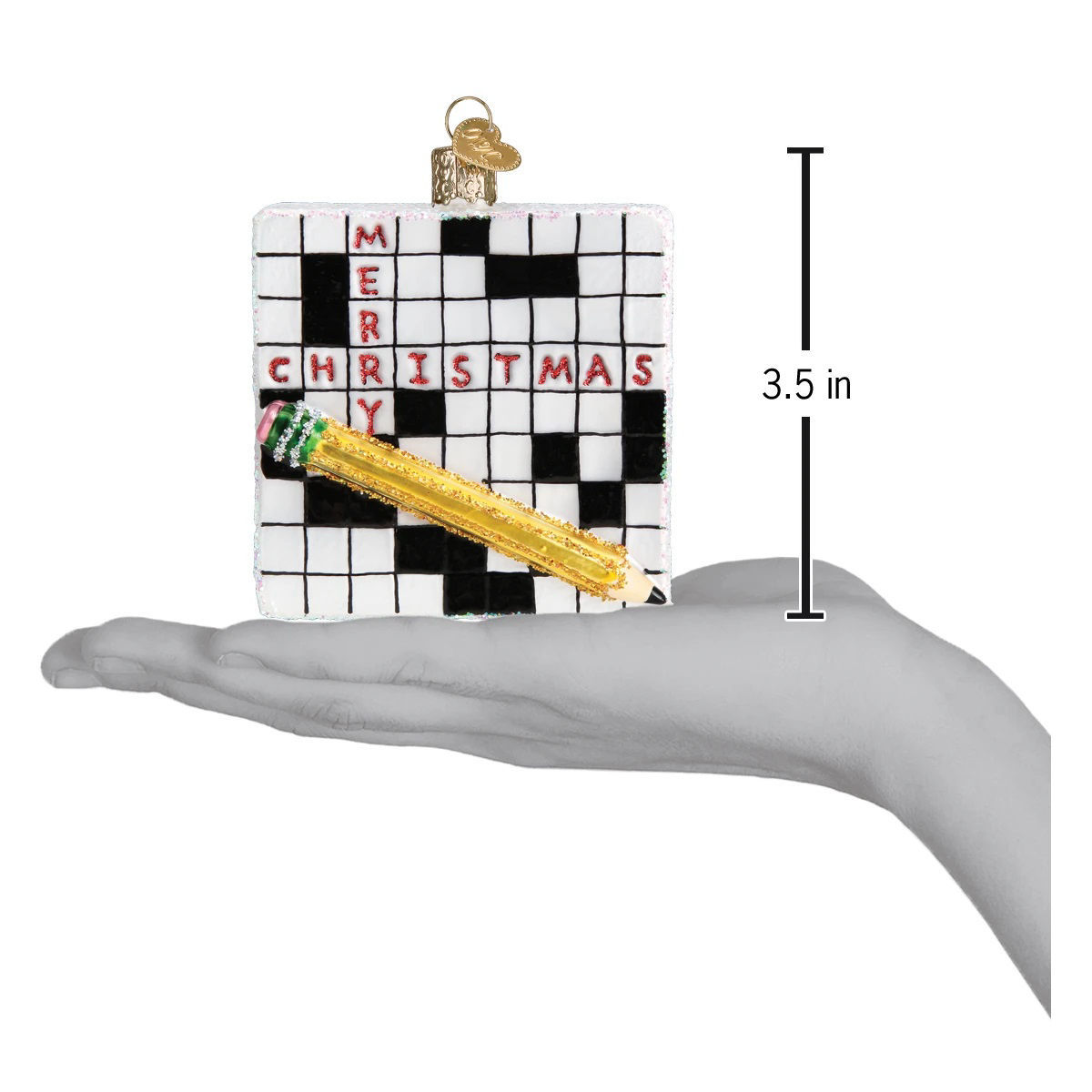 Crossword Puzzle Ornament by Old World Christmas