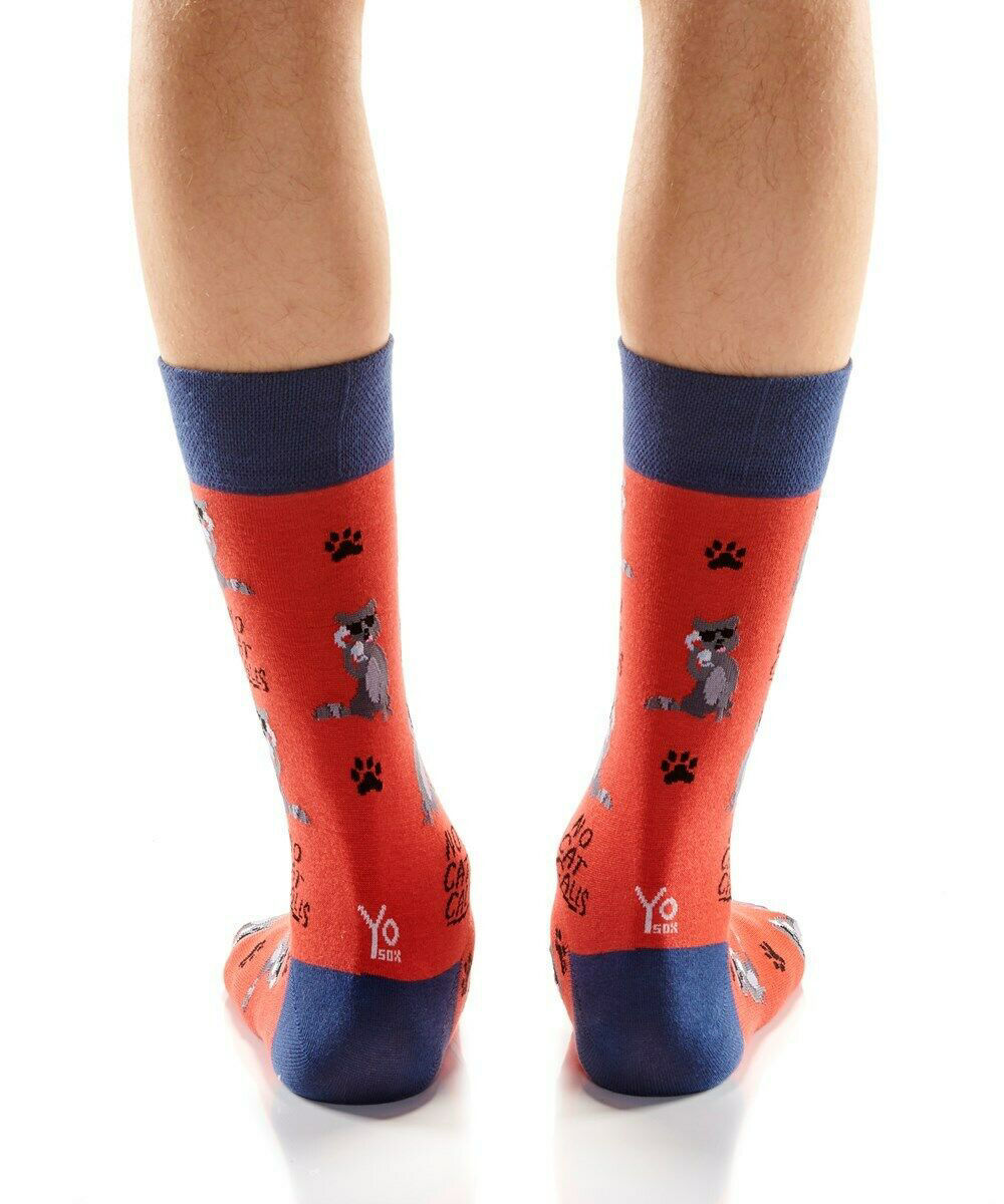 Cat Callin Men's Crew Socks  by Yo Sox