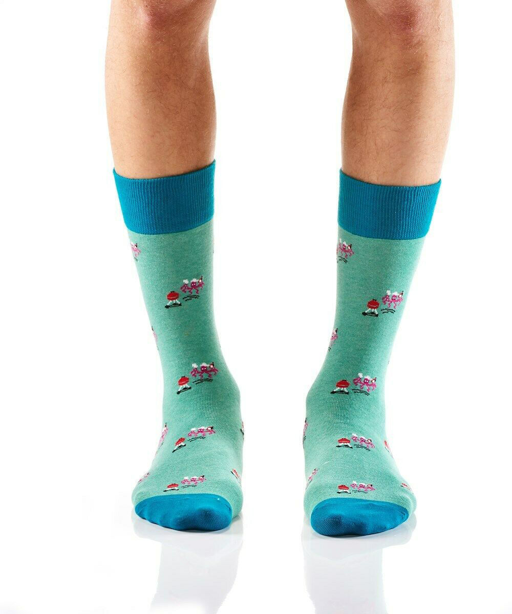 Grillin Squid Men's Crew Socks  by Yo Sox