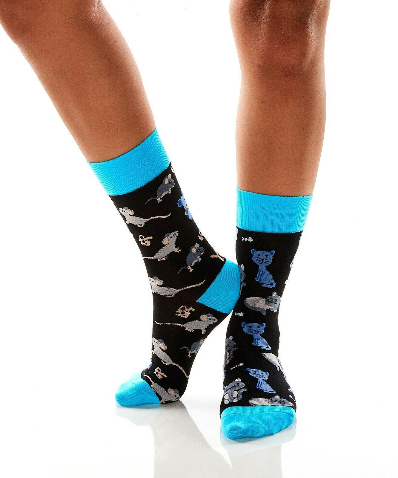 Cat & Mouse Women's Crew Socks by Yo Sox