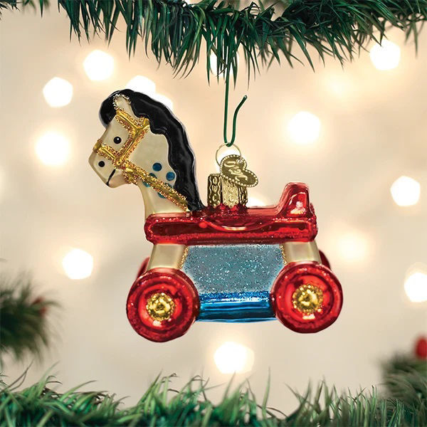Rolling Horse Toy Ornament by Old World Christmas