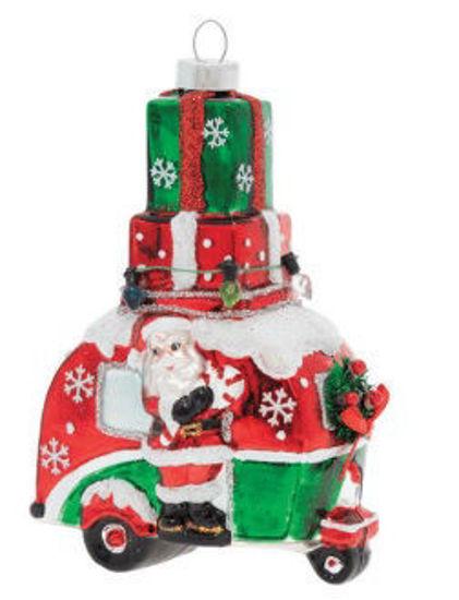 Santa's Camper Ornament by Kat + Annie