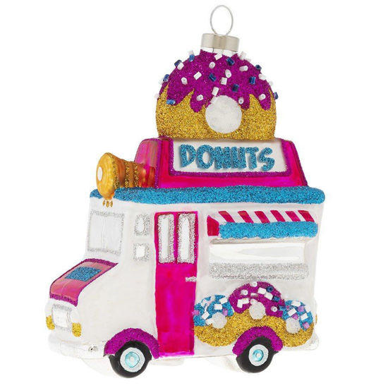 Sparkly Donut Truck Ornament by Kat + Annie