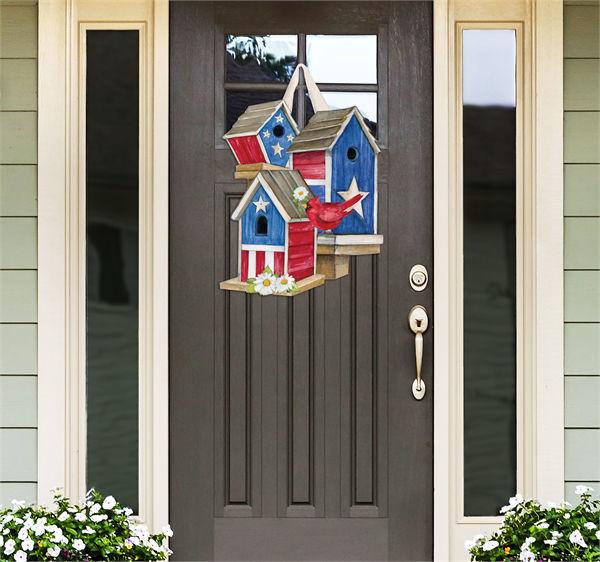 All American Birdhouses Door Decor by Studio M