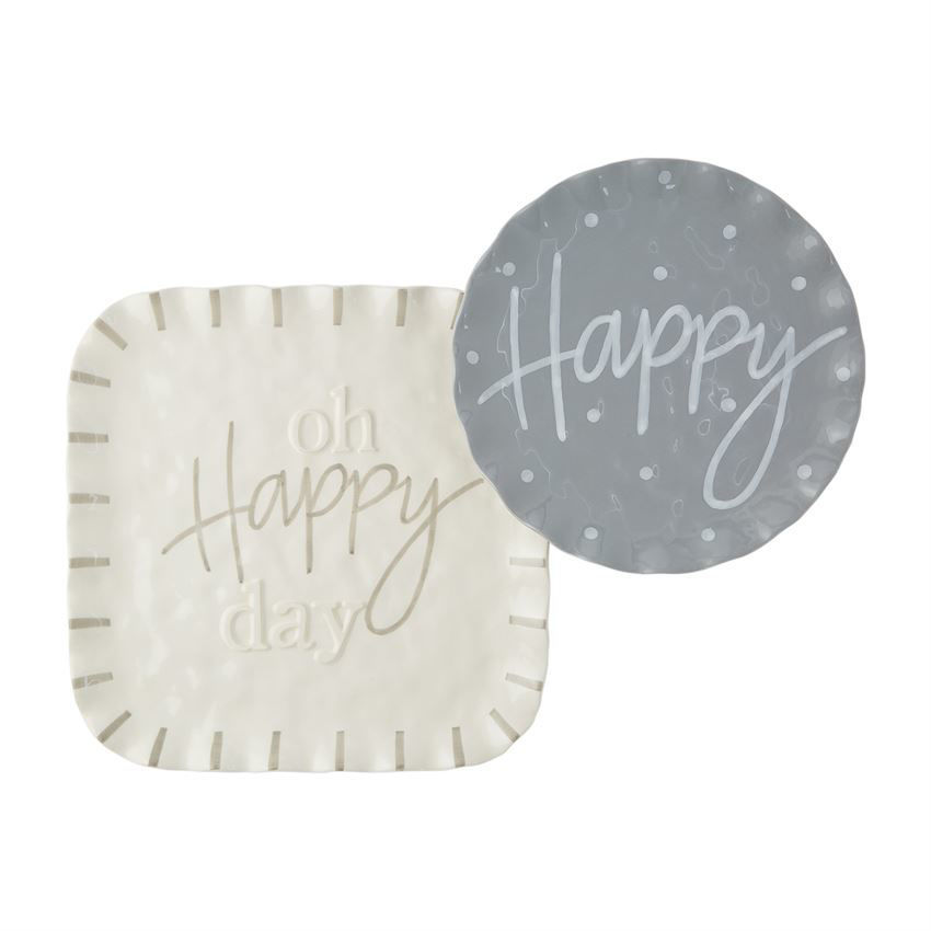 Happy Ruffle Nested Tray by Mudpie