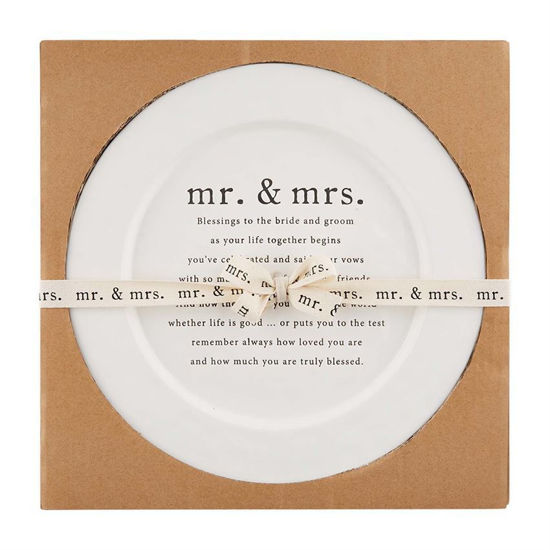 Wedding Blessing Platter by Mudpie