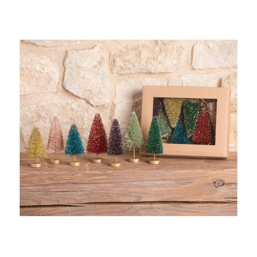 Jewel-Tide Bottle Brush Tree Mini Set by Bethany Lowe Designs
