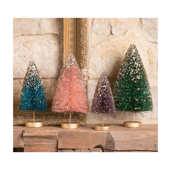 Jewel-Tide Bottle Brush Trees Set by Bethany Lowe