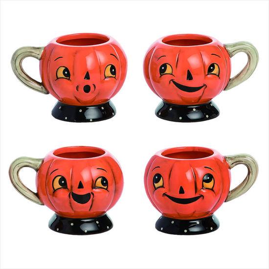 Pumpkin Tea Cup Set by Transpac