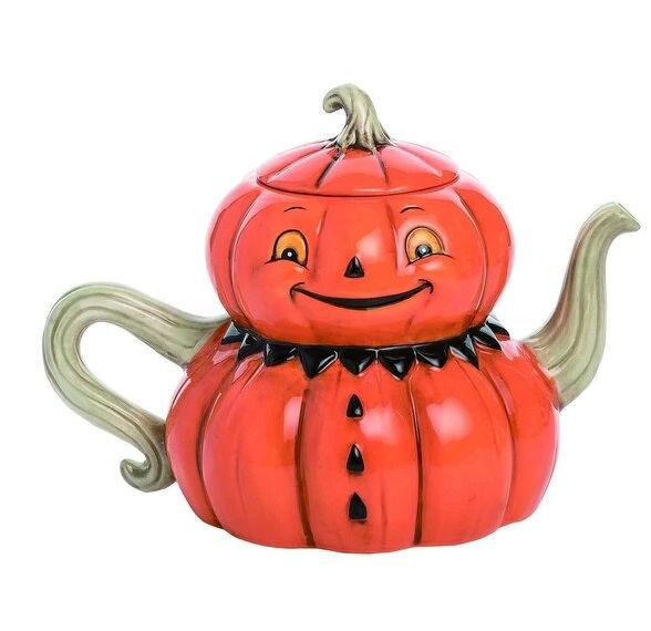 Pumpkin Tea Pot by Transpac