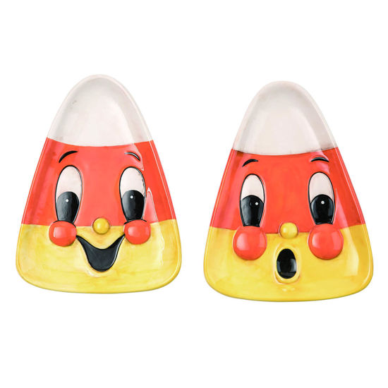 Candy Corn Plate Set by Transpac