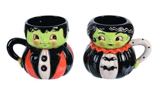 Mr. & Mrs. Frankenstein Mug Set by Transpac