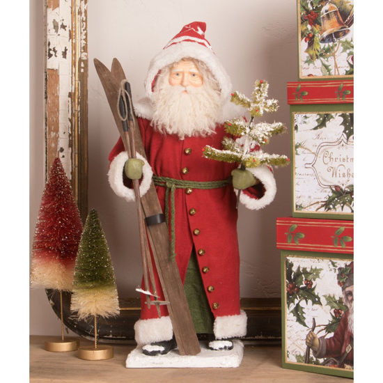 Vintage Santa with Skis by Bethany Lowe