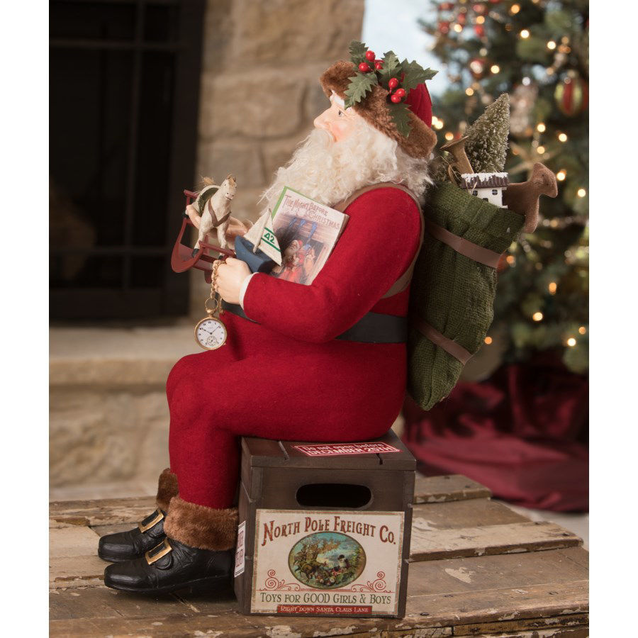 North Pole Freight Nast Santa by Bethany Lowe