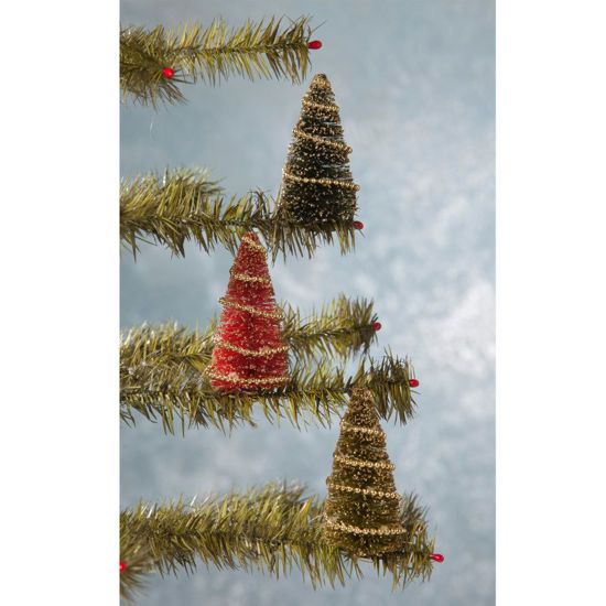 Bottle Brush Tree Clip Ornament Set by Bethany Lowe