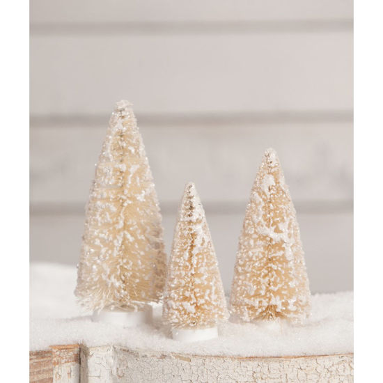Winter Bottle Brush Trees Small Set by Bethany Lowe