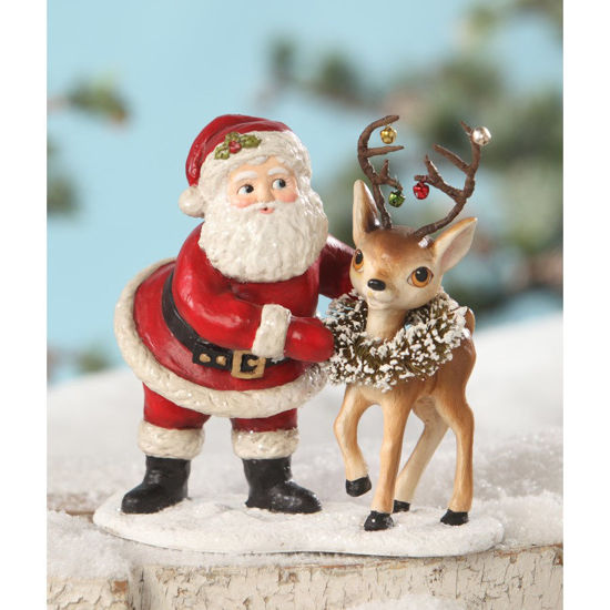 Retro Santa With Reindeer by Bethany Lowe