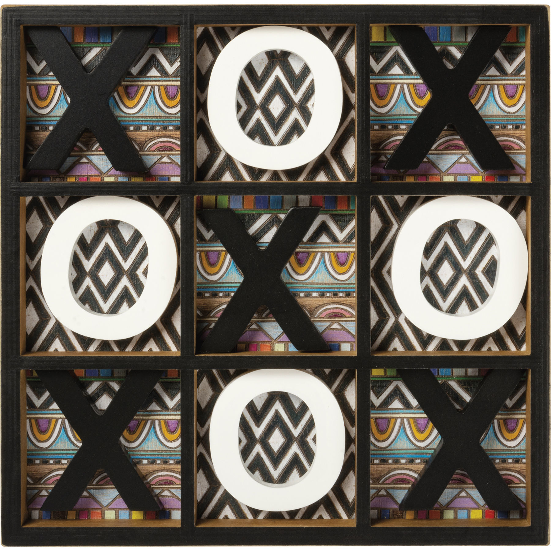 Tic Tac Toe Tabletop Game by Primitives by Kathy