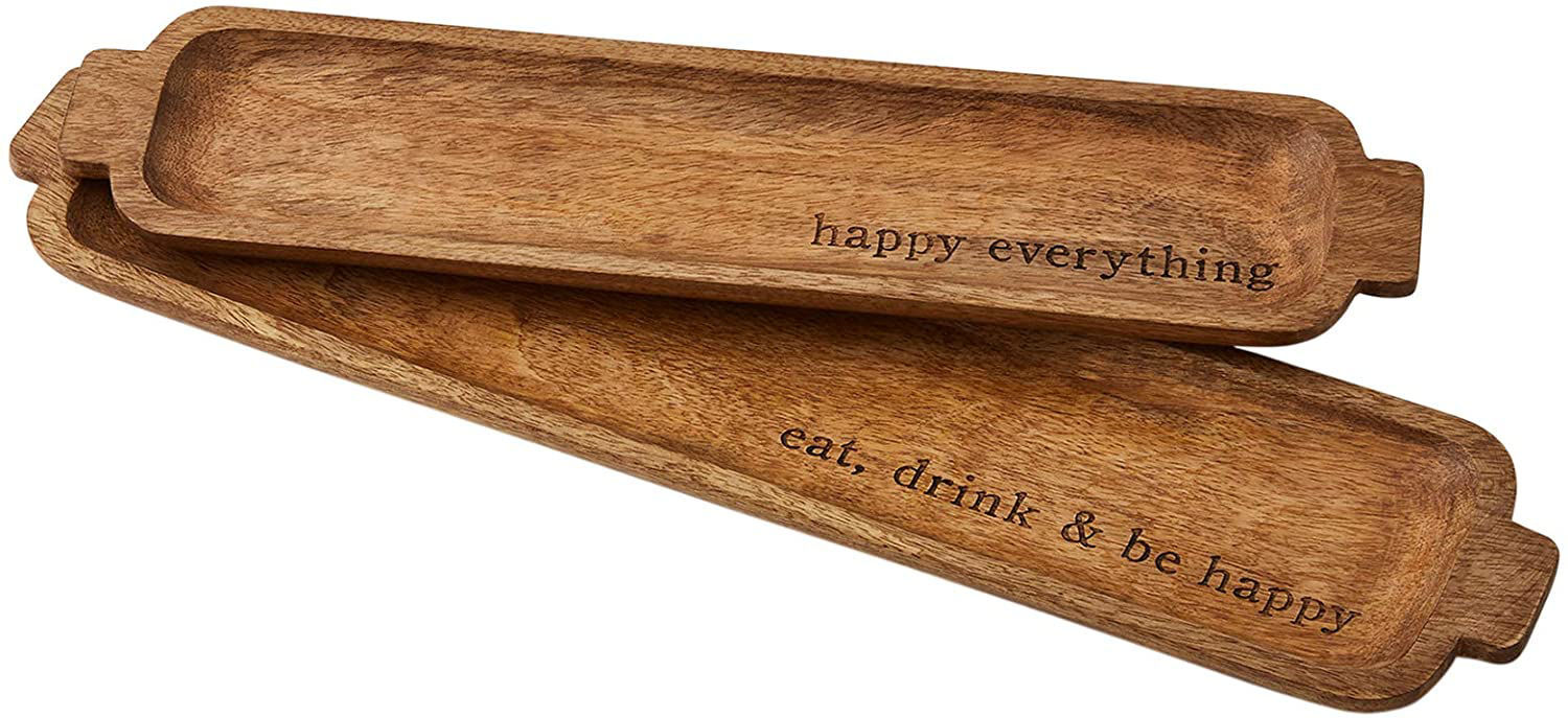 Happy Nested Wooden Tray Set by Mudpie