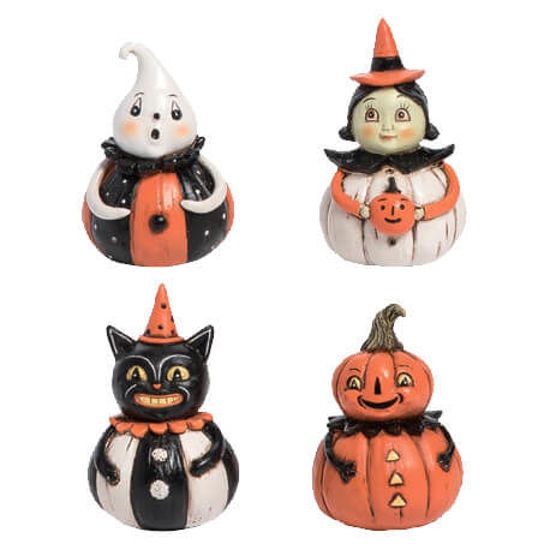 Mini Pumpkin Peeps Set by Transpac