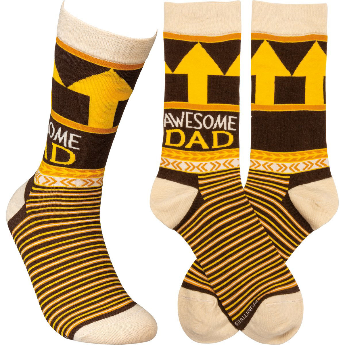 Awesome Dad Socks by Primitives by Kathy