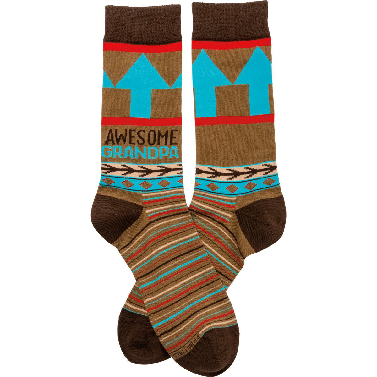 Awesome Grandpa Socks by Primitives by Kathy