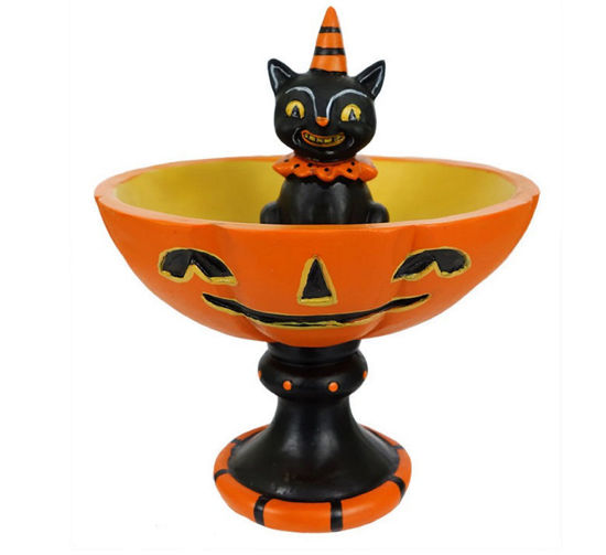 Black Cat Treat Bowl by Transpac