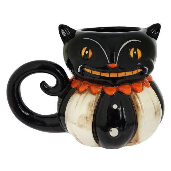 Black Cat Pumpkin Peep Mug by Transpac