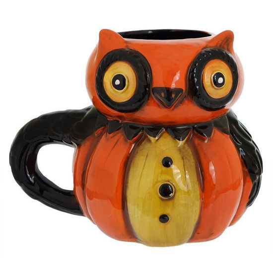 Owl Pumpkin Peep Mug by Transpac