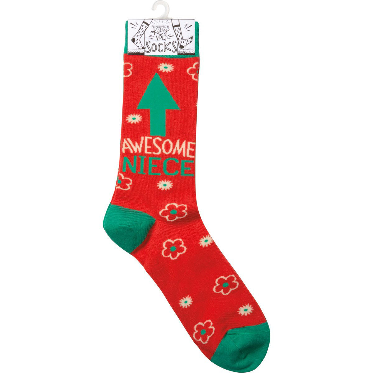 Awesome Niece Socks by Primitives by Kathy