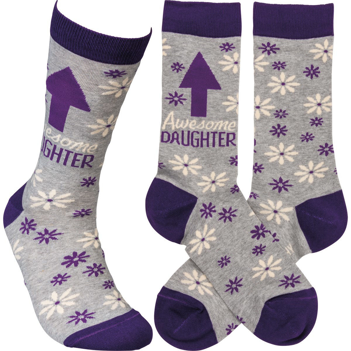 Awesome Daughter Socks by Primitives by Kathy