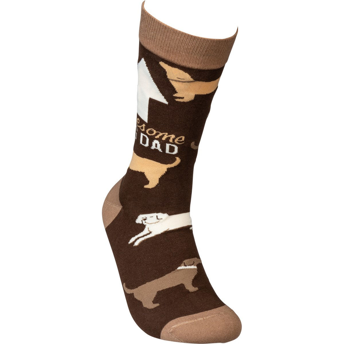 Awesome Dog Dad Socks by Primitives by Kathy
