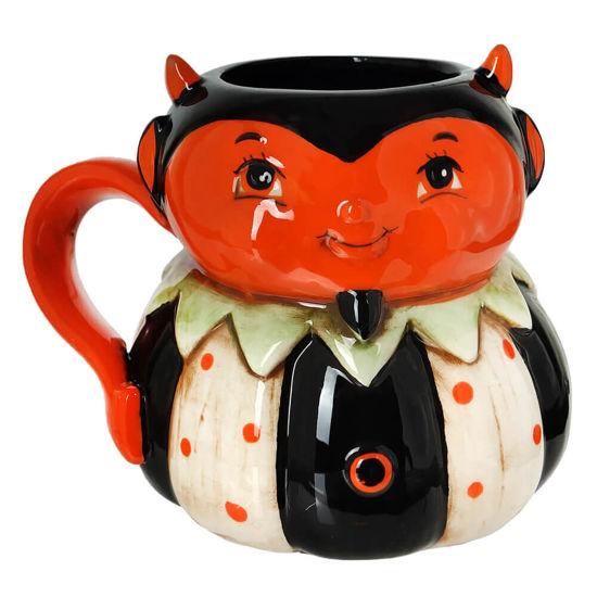 Devil Pumpkin Peep Mug by Transpac