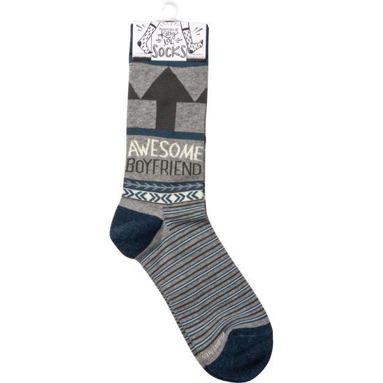 Awesome Boyfriend Socks by Primitives by Kathy