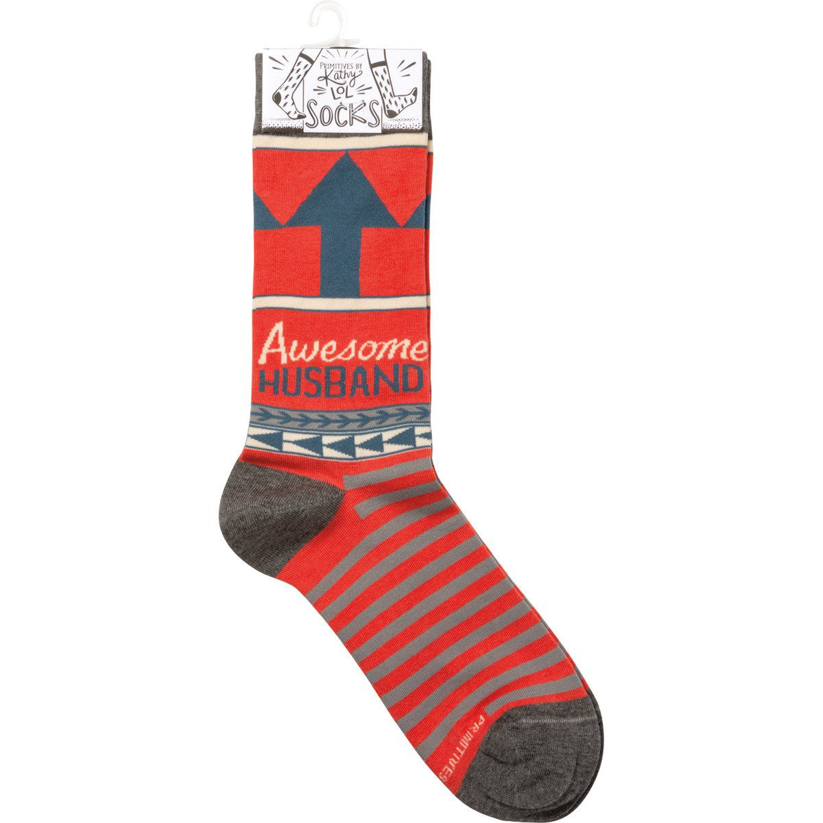 Awesome Husband Socks by Primitives by Kathy