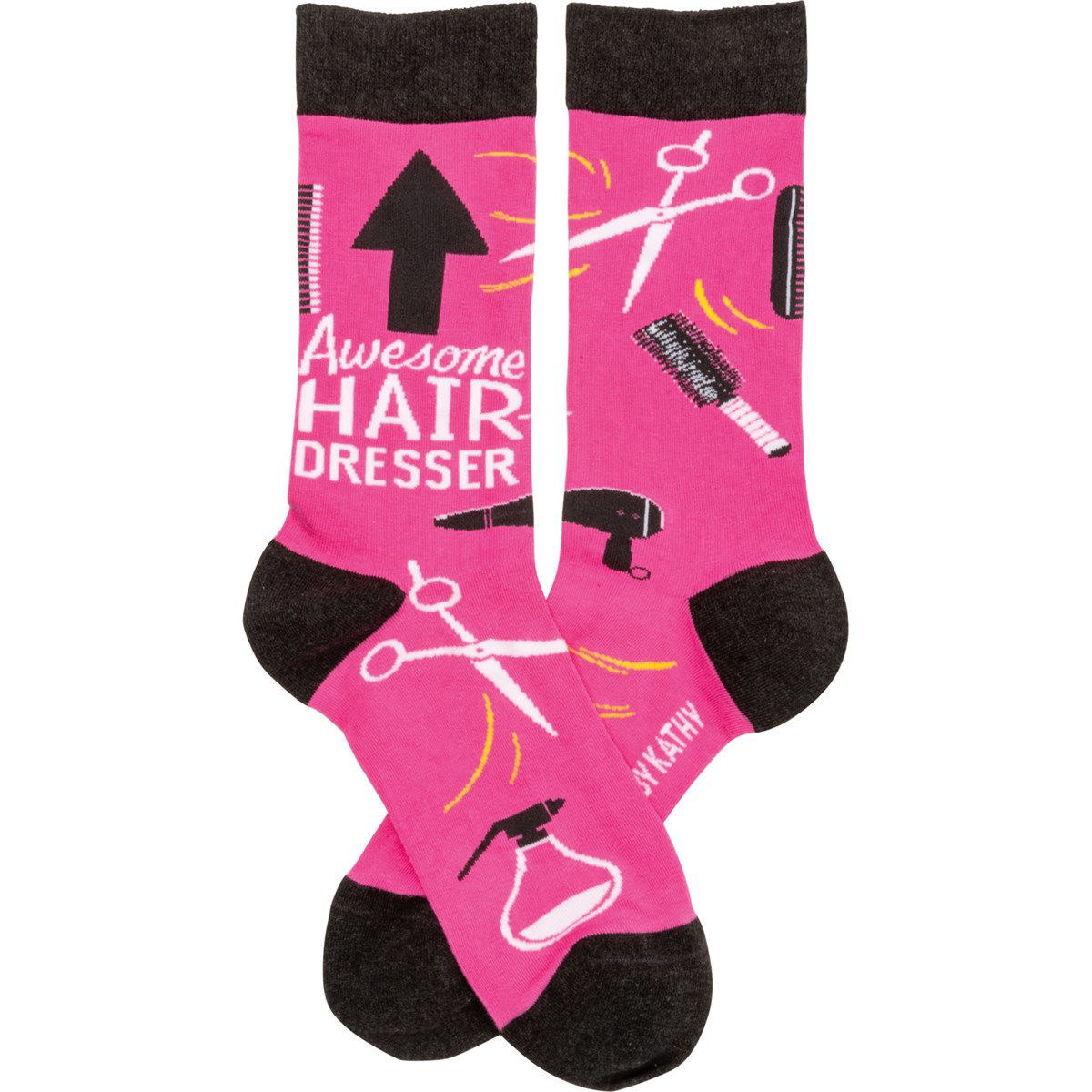 Awesome Hairdresser Socks by Primitives by Kathy