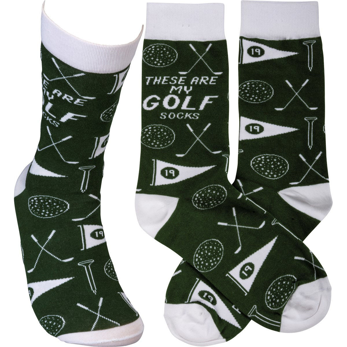 These are my Golf Socks by Primitives by Kathy