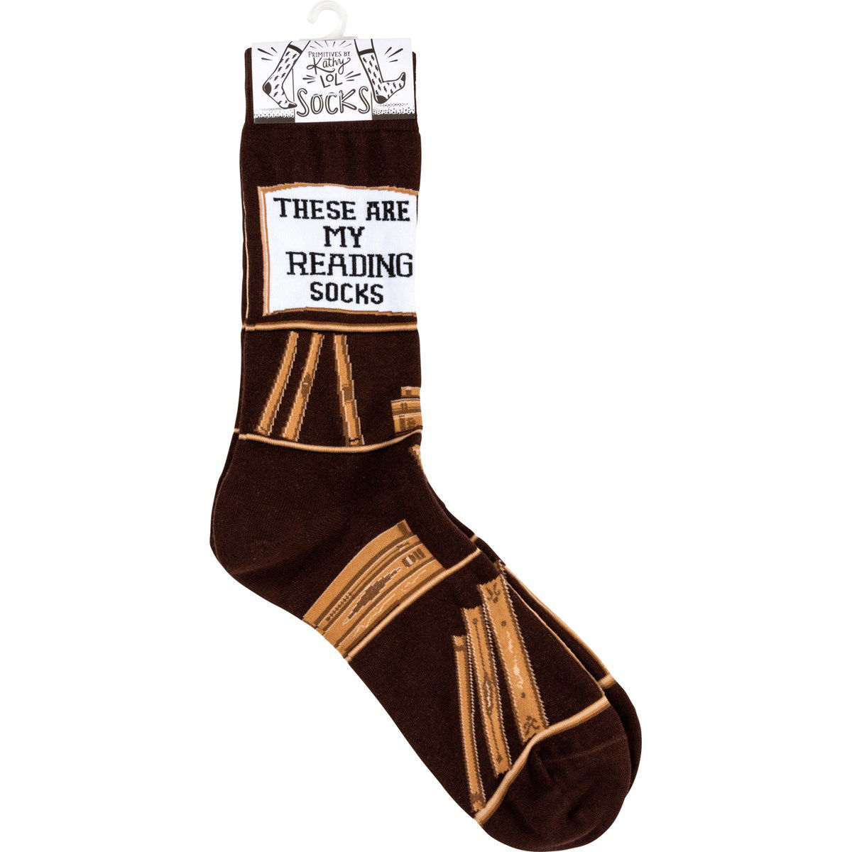 Reading Socks by Primitives by Kathy