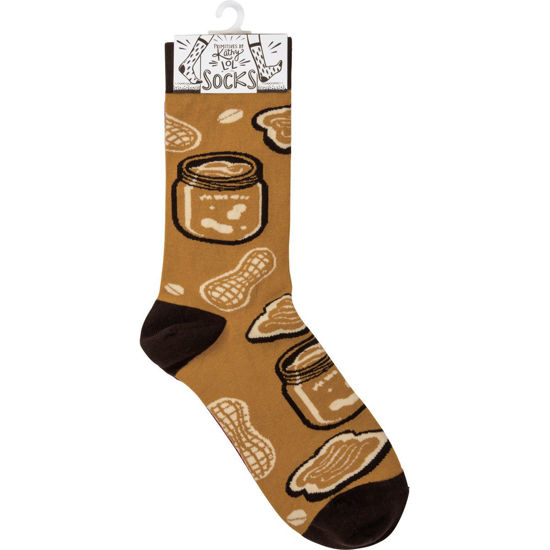 Peanut Butter & Jelly Socks by Primitives by Kathy