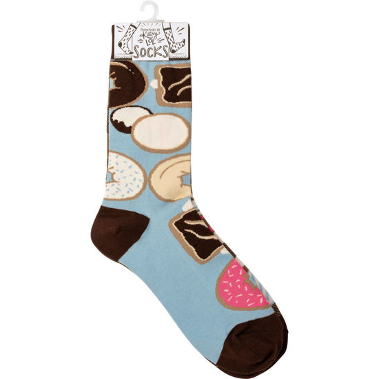Coffee & Donuts Socks by Primitives by Kathy